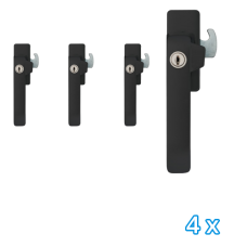 AXA veiligheids raamsluiting links zwart 3329 (4x) - SKG*