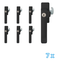 AXA veiligheids raamsluiting links zwart 3329 (7x) - SKG*
