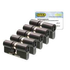 EVVA 4KS cilinder gepatineerd zwart met kerntrekbeveiliging (5x) - SKG***