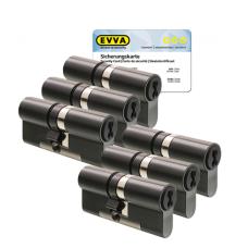 EVVA 4KS cilinder gepatineerd zwart met kerntrekbeveiliging (6x) - SKG***