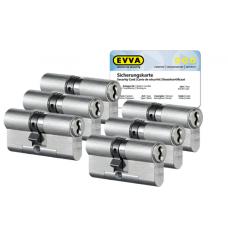 EVVA 4KS cilinder nikkel (standaard) met kerntrekbeveiliging (6x) - SKG***