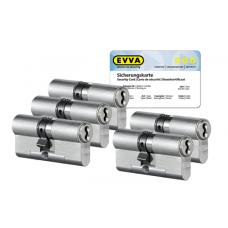 EVVA 4KS cilinder met kerntrekbeveiliging (5x) - SKG***