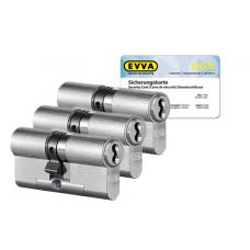 EVVA 4KS cilinder nikkel (standaard) met kerntrekbeveiliging (3x) - SKG***
