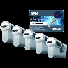 Mauer New Wave 4 cilinder met kerntrekbeveiliging (5x) - SKG***
