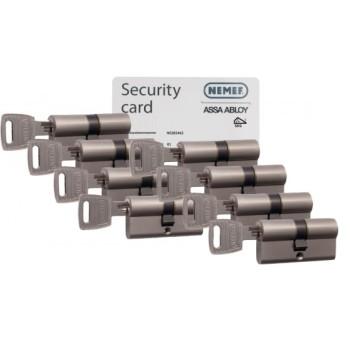 Nemef NF3 cilinder met kerntrekbeveiliging (8x) - SKG***
