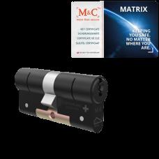 M&C Matrix cilinder zwart met kerntrekbeveiliging (1x) - SKG***