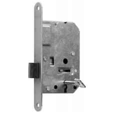 Nemef 1256 insteek kastslot met sleutel (klavier) - doornmaat 50 - voorplaat afgerond